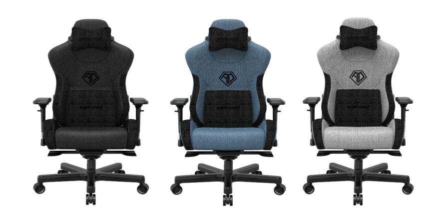 AndaSeat Launches T-Pro 2 Luxurious Fabric King Size Ergonomic Gaming Chair